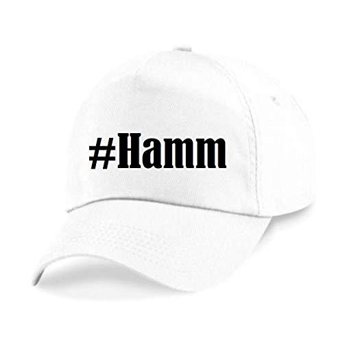 Reifen-Markt Base Cap Hashtag #Hamm Größe Uni Farbe Weiss Druck Schwarz