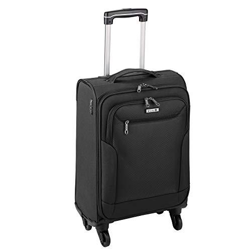 D & N Unisex-Erwachsene 6854-01 Koffer Trolley, Schwarz, 55 cm