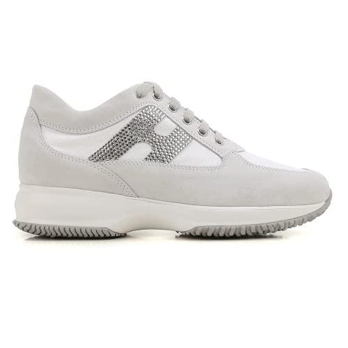 Hogan Interactive Scarpe da Donna Sportive Sneakers Bianco, 38