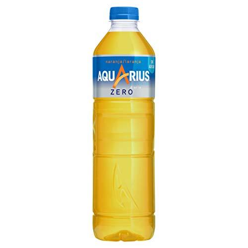 Aquarius Zero Azúcar Naranja - Bebida funcional con sales minerales, sin azúcar - botella 1,5L