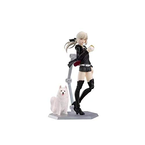 Xtxzq Action Man Figure Anime Figures Saber Figma Arutoria Pendoragon Action Figurine Fate Stay Night Girl Toys Height Approx13CM. Best Gift for Kids Adults and Anime Fans