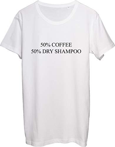 50% Café 50% Champú Seco Hombres Camiseta bnft