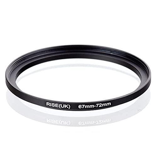 Step Up - Anillo adaptador de 67 – 72 mm, 67 – 72 mm, adaptador de anillo de 67 – 72 mm, 67 – 72 mm, lente compatible con Nikon Canon Fujifilm Sony Olympus Panasonic Sigma Tamron Tokina