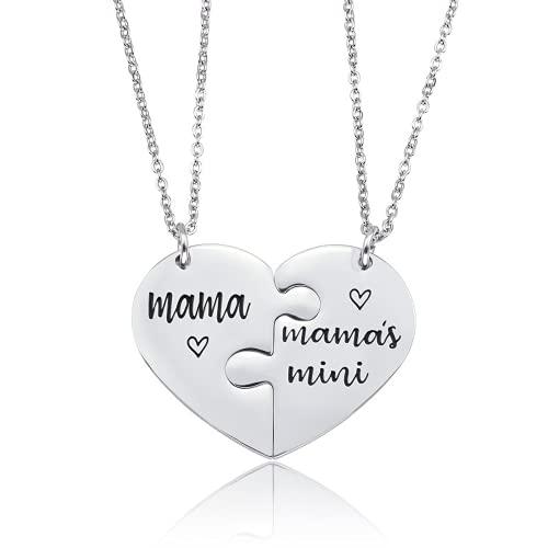 Yaowo Jewelry - Collar De Madre con Forma De Corazón para Regalo De Día De La Madre para Abuela