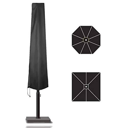 TK Gruppe Timo Klingler Sonnenschirm Abdeckhaube Hülle bis 160 cm Plane Abdeckplane, Schutzhülle schwarz - aus Polyester