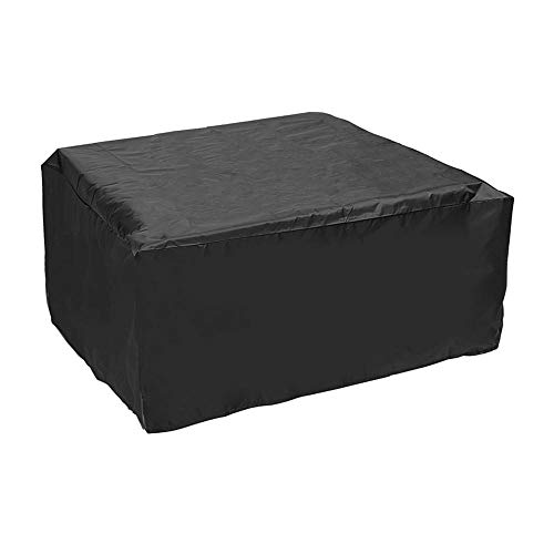 DyNamic 90X90X40Cm Furniture Waterproof Cover Dust Rain Protect For Rattan Table Outdoor Cube Round Garden - Black