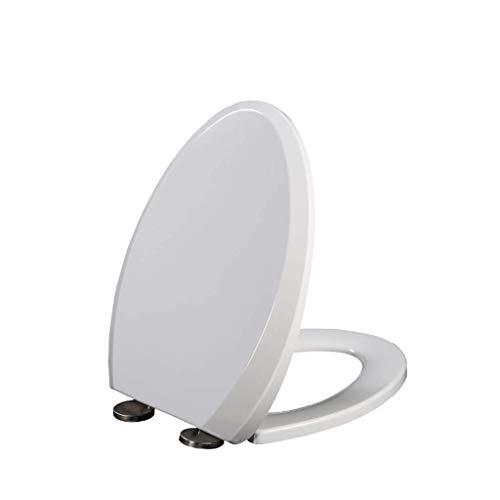 ZHUYUE Duurzame CHNZQ Mute zacht gesloten wc-bril |UF gevoerde wc-bril | home V-vormige kussensloop | roestvrij staal stabiel scharnier | universele wc-hoezen (maat: A)
