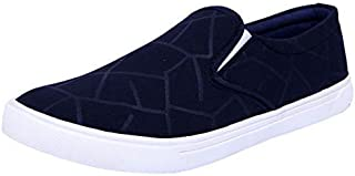 Onbeat Kid's Blue Canvas Loafer