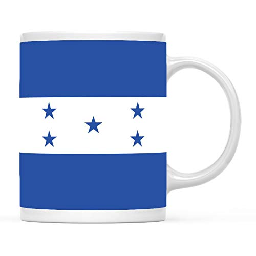 Taza de café con Bandera de país, Regalo, Honduras, Fiesta de los Juegos Olímpicos Copa del Mundo de fútbol F & Uacute; tbol Regalos para fanáticos del fútbol para él o Ella 11 oz
