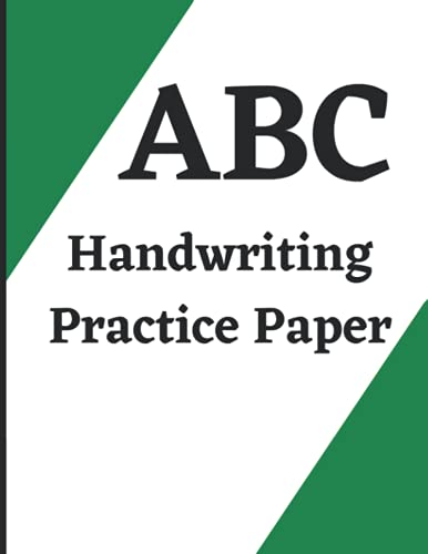 Handwriting Practice Paper: Students Learning Practice Paper book For kids, Boys and girls