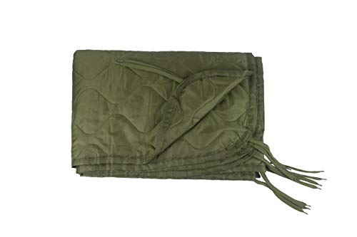 HSD Poncho Liner Military Woobie, Lightweight Multi Use Indoor & Outdoor Blanket, Camping Gear, Sleeping Bag Liner, Survival, Hunting, Tactical Equipment (OD Olive Drab Green, Adult Size)
