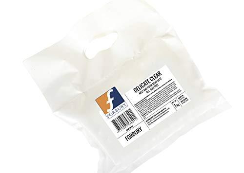 1Kg Base Jabón de glicerina transparente, Delicado,sin SLS, SLES, Delicate Clear, Forbury Direct Soap Base