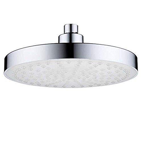 QFWM Cabezal de ducha de lluvia para baño con acabado de montaje en pared, cabezal de ducha redondo