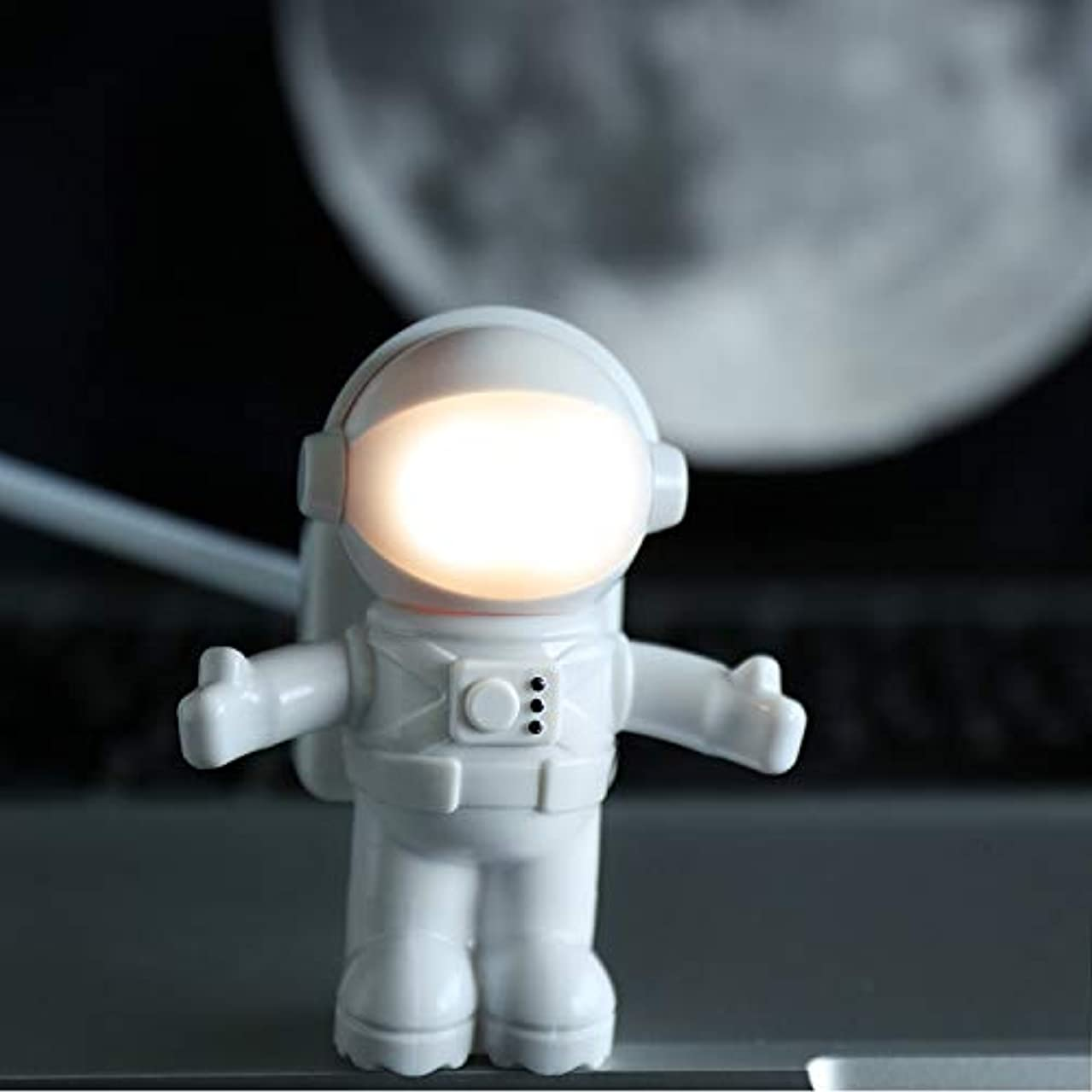 SUNDERPOWER Creative Spaceman Astronaut LED Flexible Light, USB Reading Lamps