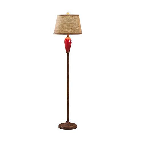 ZA vloerlamp klassiek antiek van keramiek voor slaapkamer, kantoor, kunst, woonkamer, verticaal, van metaal, Nordic vaas, initiaal-design, E27