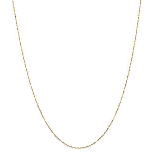 Cadena de oro de 14 quilates, de 6 mm, con cordón cardado, 33 cm