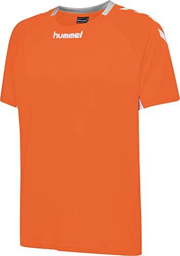 Hummel Core Team - Camiseta de fútbol para Hombre (Talla S/S), Evergreen, Core Team - Camiseta de Manga Corta, Hombre, Color Mandarina, tamaño Large
