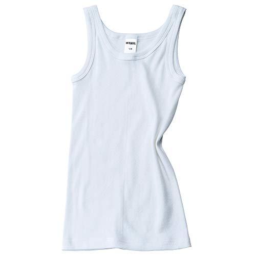 HERMKO 2800 Jungen Unterhemd aus 100{e7a9199fb47ac4ca397d6e5bf6b30fc74b4dca04ca888bb5199941d816b425f6} Bio-Baumwolle Knaben Tank Top, Farbe:weiß, Größe:104