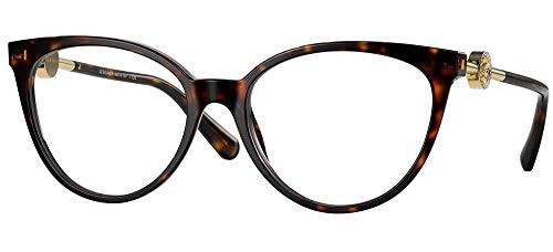 Versace Gafas de Vista MEDUSA CRYSTAL VE 3298B Dark Havana 53/17/140 mujer