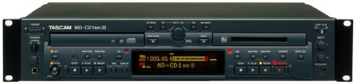Tascam MD-CD1MKIII Rackmount Combination CD Player and MiniDisc Recorder