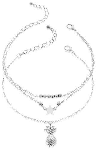 com-four® Bracelets de Cheville pour Femmes au Design...