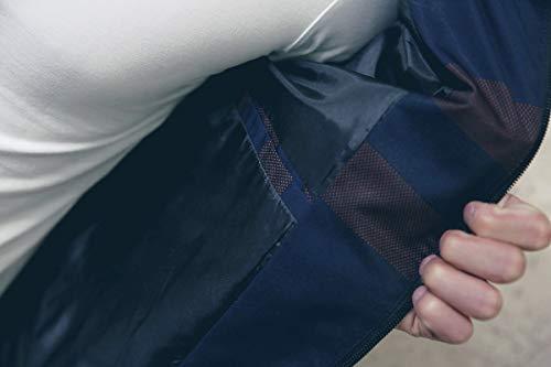 LOGEEYAR Men's Bomber Jacket Casual Slim Fit Printed Outerwear Coat (Large, black-red)