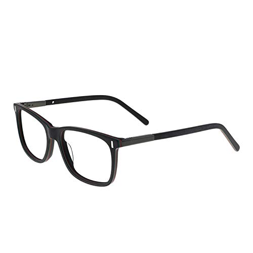 MARE AZZURO Clear Glasses Men Stylish Nerd Eyewear Frame for Large Face Male with Spring Hinge