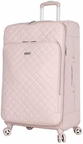 BCBGeneration Luggage Hardside Large 28 Suitcase with Spinner Wheels 28in Quilt Pink product image