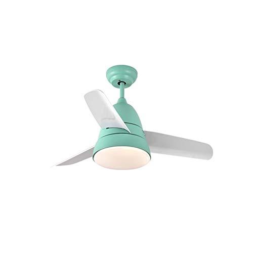 Lámpara de luz LED for ventilador de techo de bajo consumo de energía sencilla con control remoto de lámpara de luces regulables en el dormitorio suave