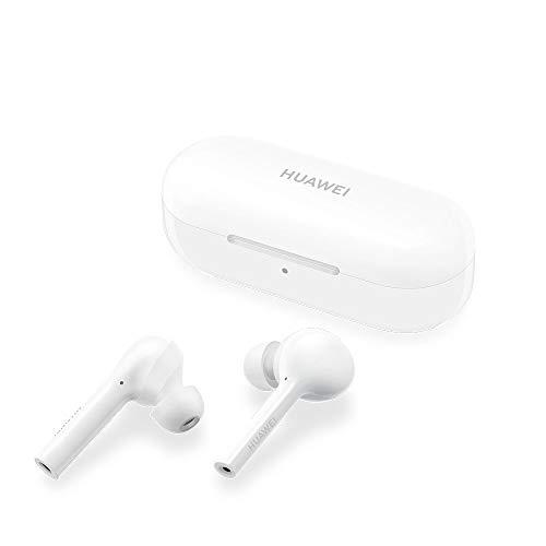 Huawei 55030713 FreeBuds Lite Cuffie Auricolare, True Wireless, Bluetooth 4.2, Accessorio Originale, Versione 2019, Bianco/Carbon White