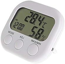 Xu Yuan Jia-Shop Termómetro Higrómetro Termómetro Digital LCD Humedad Medidor Hygrómetro Máx Min Min Reloj de Temperatura del Aire Digital Termohigrómetro