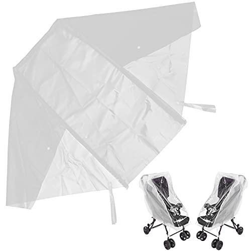 Protector resistente a la intemperie, diseño universal para cochecito de bebé, grandes ventanas transparentes para jogging, cochecitos para niños, para niñas, para cochecitos individuales(L)