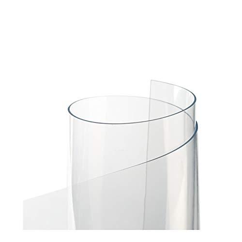 AMDHZ Protector Mesa Vidrio Blando Inodoro PVC Plastico Mantel Transparente 1,5 Mm, 2 Mm Impermeable Y Anti-Quemaduras Mantel Transparente Plato De Cristal (Color : 2mm, Size : 90X150CM)