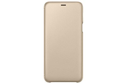 Samsung EF-WA605 6' Funda cartera Oro - Fundas para teléfonos móviles (Funda cartera, Samsung, Galaxy A6+, 15,2 cm (6'), Oro)