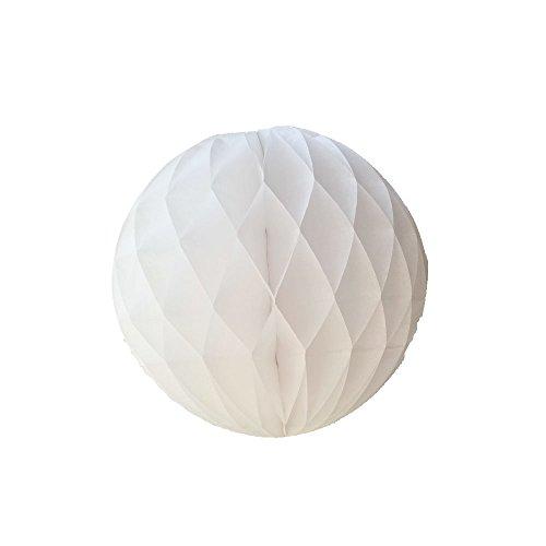 10Pcs 8inch White Paper Party Balls Art DIY Handmade Tissue Paper Honeycomb Balls DIY Craft Flower Balls Hanging Pom Poms Ball for Party Wedding Birthday Nursery Home Decor