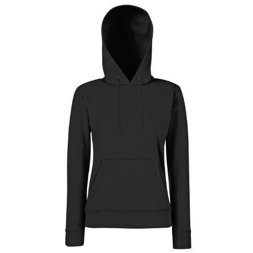 Fruit of the Loom - Sweat-shirt à capuche - Manches Longues - Femme - Noir (Black) - FR 42 (Taille fabricant: L)