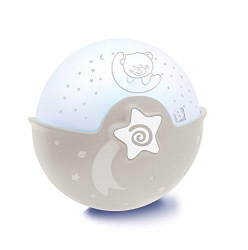 Infantino Soothing Light & Projector gris - Projecto Lampe, veilleuse projecteur 3 en 1 évolutive - Détecteur des pleurs de bébé et projecteur ciel étoilé avec mélodies et sons de la nature