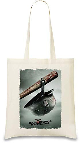 Inglouriuos basterds Teaserplakat - Inglouriuos basterds teaser poster Custom Printed Tote Bag| 100% Soft Cotton| Natural Color & Eco-Friendly| Unique, Re-Usable & Stylish Handbag For Every Day Use|