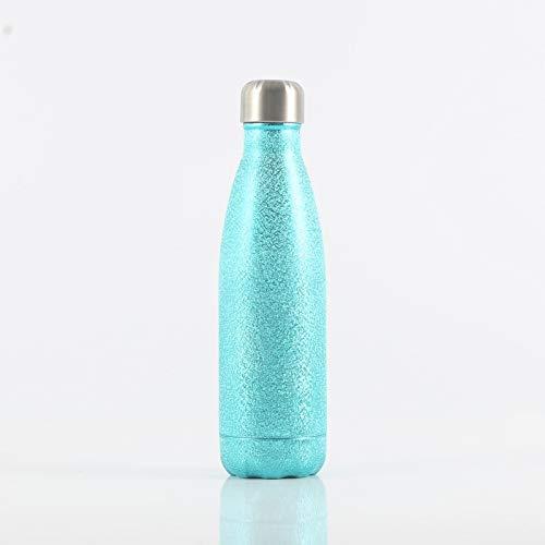Xiaobing Taza Termo Colorida de la Moda de la Pintura de la Flor del Hielo de la Taza del Regalo de la Botella de los Deportes del Acero Inoxidable 304 -D054-500ml-G736