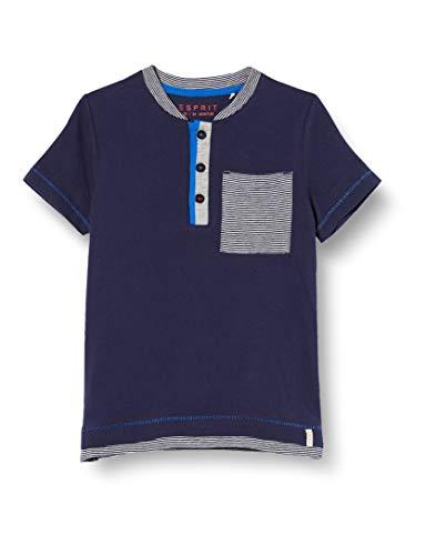 ESPRIT KIDS Baby-Jungen RQ1018202 SS T-Shirt, Blau (Midnight Blue 485), (Herstellergröße: 92)