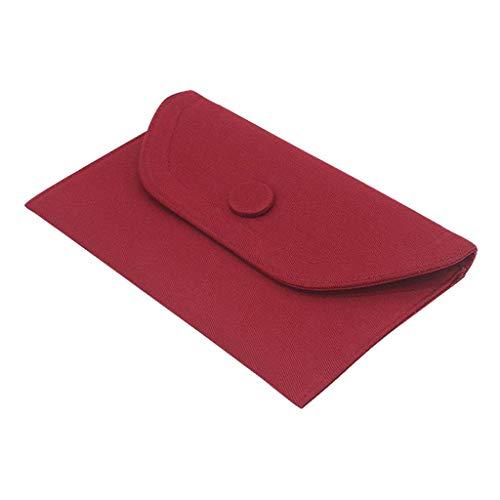 sharprepublic Sac à Main Femme en Jeans Simple et Chic pour Femme Fille - Vin rouge, Petit