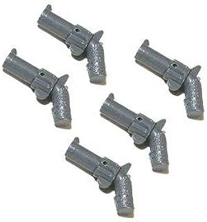 LEGOブロック・純正パーツ<武器>ピストル・リボルバー [並行輸入品] (5個, Dark Bluish Gray)