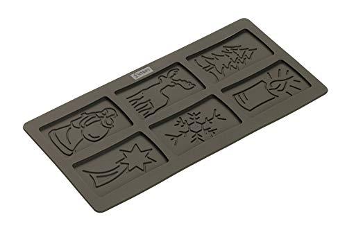 Lurch 65016 Moule à spéculoos Flexiform 15x30cm Noir, Silicone, 20 x 15 x 10 cm