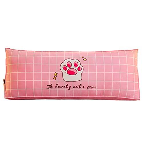 xinke Almohada De Soporte De Cama para Sentarse En La Cama Almohada De Respaldo De Lectura para Cabecera con Cubierta Extraíble Tamaño Doble(Size:150×50×26cm,Color:Rosa)
