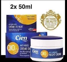 CIEN Q10 Gesichtscreme Anti-Falten - Nachtcreme - 2 x 50 ml