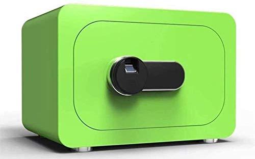 Tresore Safe Haushalt Fingerabdruck Passwort Safe Einbau-Alarmanlage Sicherheit Stahl Anti-Diebstahl-feuer- und wasserdicht elektronische 40 * 30 * 28Cm Möbeltresore (Color : Green)