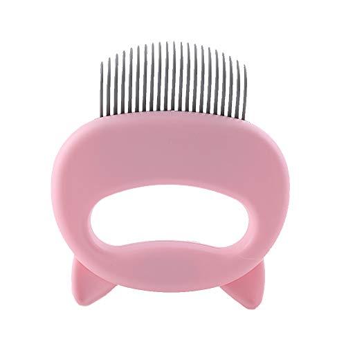 FANXQ Pet Grooming Kamm Haarentfernung Pinsel, Shell Reinigung Haarentfernung Hund Katze Langes Haar Kurzes Haar Kamm Pet Supplies,Rosa