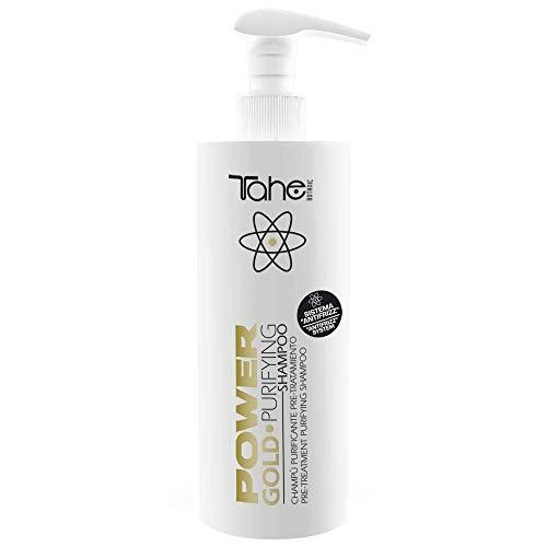 Tahe Champú Purificante Pretratamiento Purifying Power Gold Mask Champú Limpiador y Eliminador de Residuos 400 ml