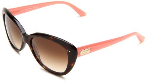 Kate Spade Women's ANGELIQUE Cat Eye Sunglasses,Tortoise Blush Frame/Brown Gradient Lens,One Size