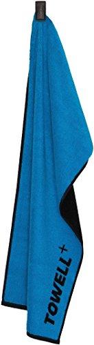 Towell Plus Handtuch mit Tasche und Magnetclip, Bekannt aus Die Höhle der Löwen Sporthandtuch, Blau, One Size